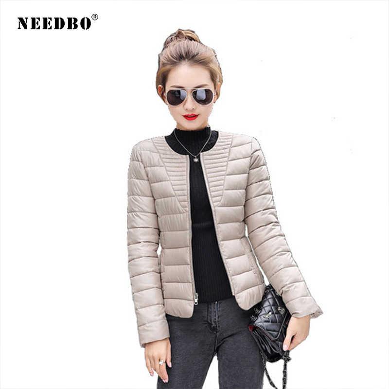 NEEDBO damskie puchowe kurtki ultra lekkie puchowe zimowe Oversize zimowe jesienne ciepłe kurtka pikowana płaszcz pani dół kurtki Parka