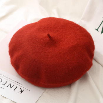 Winter berets Women Girls Flat cap Vintage Solid Color beret for women Candy Female Warm Vogue