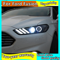Car Styling for Ford Fusion Headlight 2013 2017 Mondeo DRL Mustang Design Hid Dynamic Signal Bi Xenon LED Beam Accessories