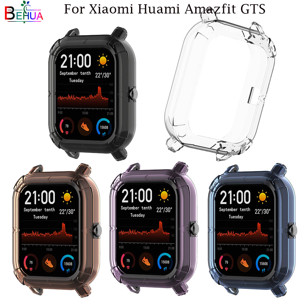 BEHAU Protective Case Cover For Xiaomi Huami Amazfit GTS Smart Watch Replacement TPU Protection Cases  Wristband Accessories