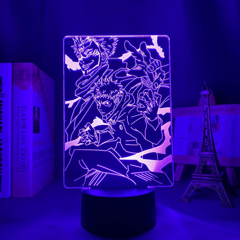 Hfca1ba25e124416cba36724a29c6a768Q Luminária Anime jujutsu kaisen ryomen sukuna led night light lâmpada para decoração do quarto presente de aniversário yuji itadori luz jujutsu kaisen gadget