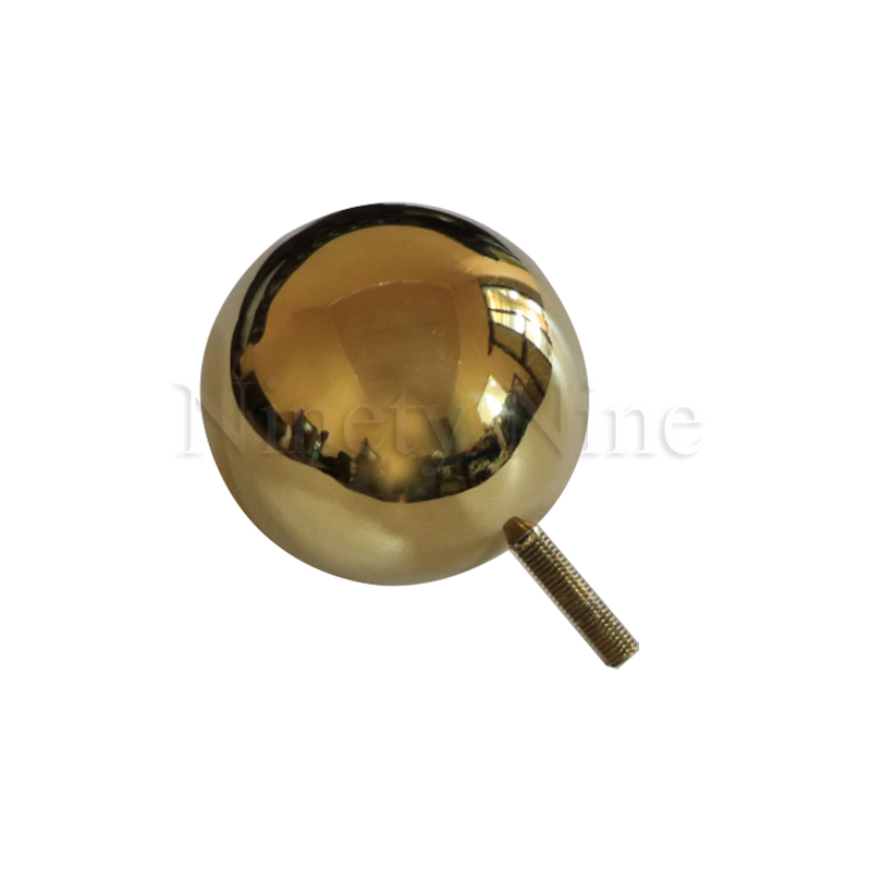 Image 5 - 2Pcs/Lot Gold Furniture TV Cabinet Sofa Ball Feet LegGolden ball sofa leg round metal hollow ball hardware feet-in Furniture Legs from Furniture