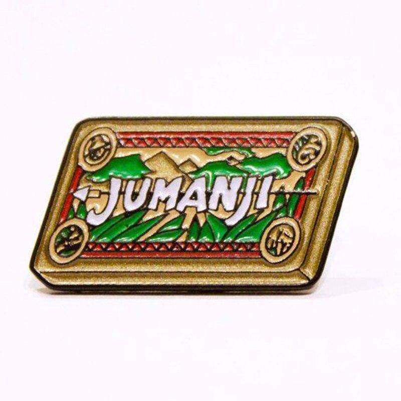 Jumanji enamel pin mysterious chess board games adventure badge sci-fi movie fans gift