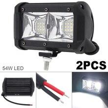 2pcs Car Truck off-road 3030 LED Working Light Headlight Headlamp IP67 12V-24V 6000K 5400LM