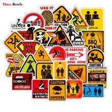 Trois Ratels 50 pièces autocollants d'avertissement Danger interdiction signes étanche autocollant autocollant bricolage ordinateur portable moto bagages Snowboard voiture