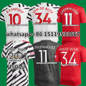 new jersey Third Home away 20 21 manchester soccer united jersey RASHFORD VAN DE BEEK B.FERNANDES MARTIAL GREENWOOD utd shirt