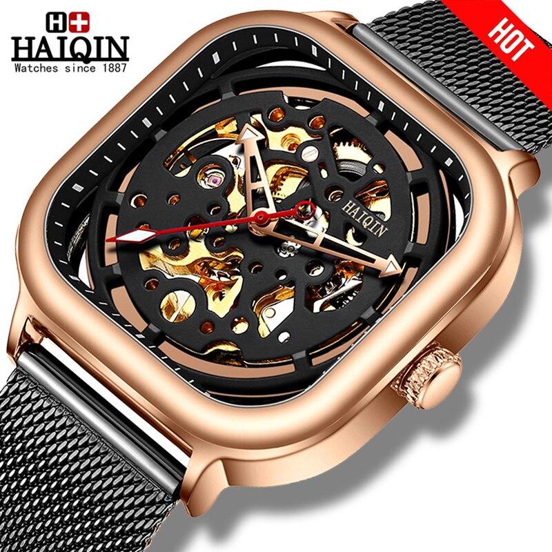 Mecânica dos Homens Marca de Luxo Relógio de Ouro Relógio à Prova Haiqin Mens Relógios Homens Wirstver Negócio d' Água Reloj Hombres 2020 – Top