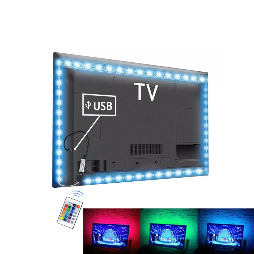 USB LED Strip Rgb Tape TV Backlight PC Ambilight Neon Lights Smd 2835 5V Tira Leds Light Strips For Decoration Lamp Diode Ribbon