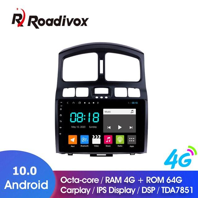 "9"" Android 10.0 RAM 4G ROM 64G for HYUNDAI Classic Santa Fe 2005 2015 Car Dvd Gps Navigation Radio Multimedia Player Stereo Unit"