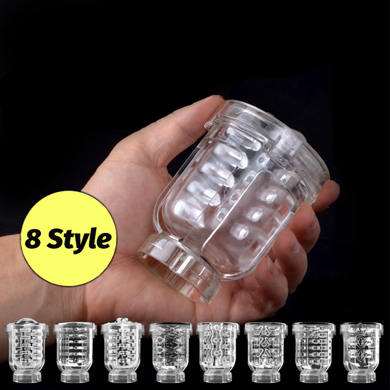 Male Masturbator Inner Replacement Cups for Easy Love Air Sucking Male Masturbator Oral/Vaginal/Anal Inner Replacement Parts
