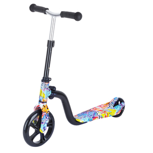 1pc Children Two-wheeled Scooter Kid's Toy Car Big Wheel Pulley Scooter Beautiful Printed Kick Scooter for Kids Playing(China)