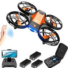 4drc v8 mini zangão 4k 1080p hd grande angular câmera wifi fpvdrone altura manter dobrável quadcopter brinquedo presente