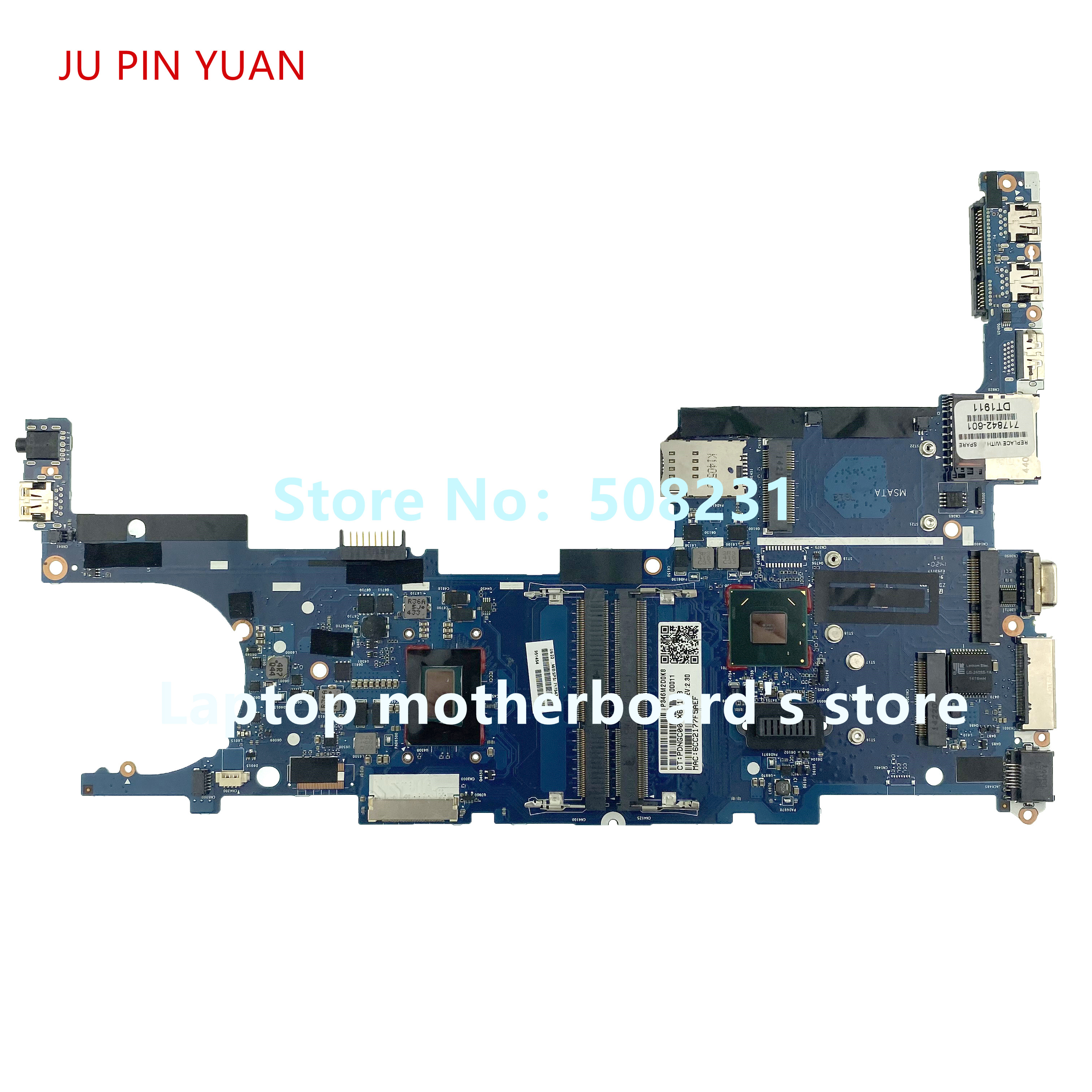 For JU PIN YUAN HP EliteBook 9470m Laptop Motherboard QM77 With i5 3337U 717842 001 717842 601 100% fully Tested|Laptop Motherboard| |  - title=
