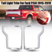 Par abs chrome traseira luz da cauda lâmpada quadro capa trims para ford f150 2015 2016 2017 2018 2019 acessórios do exterior do carro