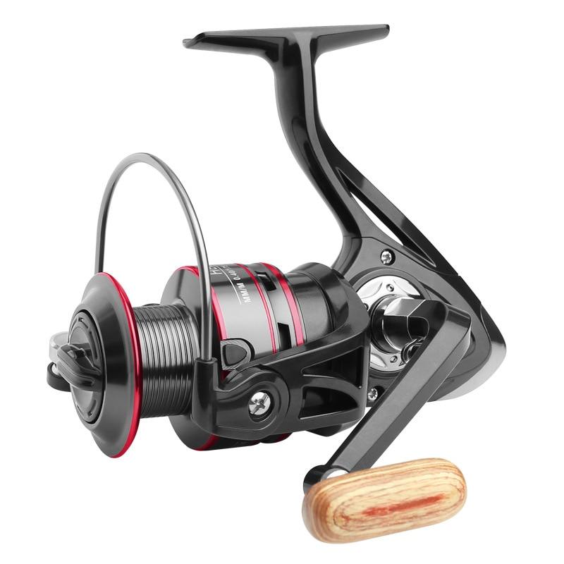 Fishing Reel 8KG Pike Black Red Spinning Reel  Handle Line Spool Saltwater Fishing Accessories