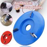 Wood Carving Disc Woodworking Engraving 4 tooth Milling Cutter for 16mm Aperture Angle Grinder MU