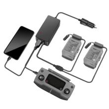 Автомобильное зарядное устройство для DJI Mavic 2 Pro, Zoom, Drone, быстрая зарядка, 2 аккумулятора, концентратор, для путешествий, транспорт, для DJI Mavic 2