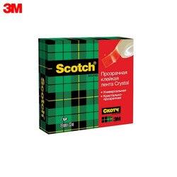 Cinta transparente 3M 600 suministros para oficina y Escuela cintas adhesivas sujetadores Scotch Crystal 600 cinta adhesiva en una caja transparente