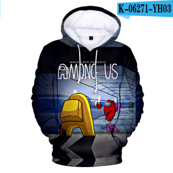 New Autumn Winter Tops Funny Print Among Us Hoodie Cartoon 3D Printed Pullover Sweatshirt Adult Harajuku Anime Pullover 9