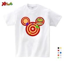 Summer Cartoon Children Clothing Print Tee Tops For Boy Girls Clothing Children Funny Kids T Shirt girls cartoon print tee