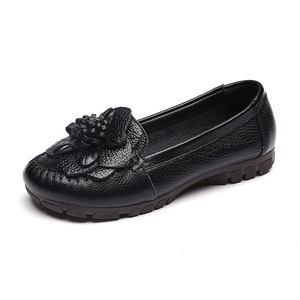 Image 5 - GKTINOO 2020 Fashion Women Shoes Genuine Leather Loafers Women Casual Shoes Soft Comfortable Shoes Flowers Women Flats