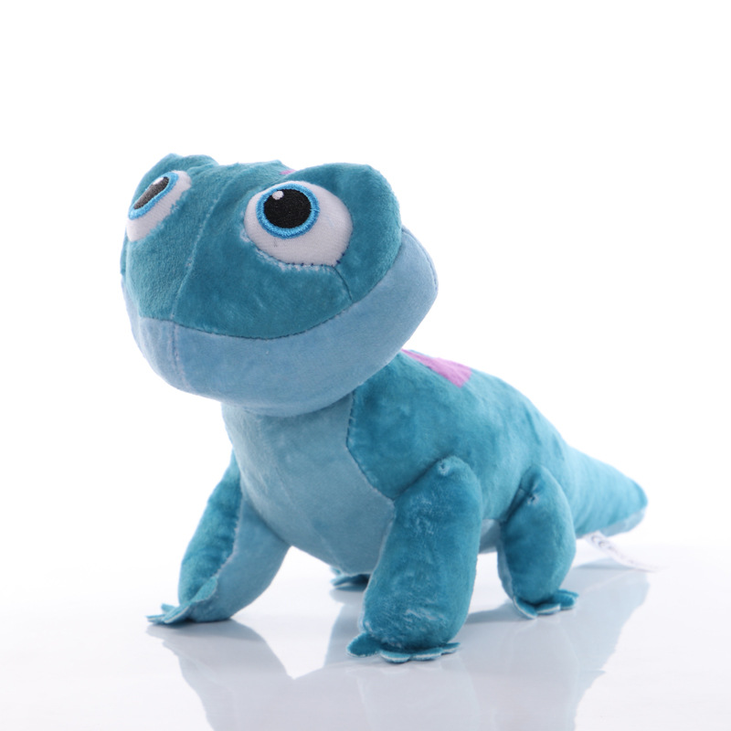 Disney Children's Cartoon Plush Toys Frozen 2 Elsa Olaf Toys Bruni Figurine Chameleon Boys Girls Plush Toy