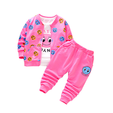 2020 New Spring Autumn Children Casual Clothes Baby Boys Girls Print Cartoon Jacket T Shirt Pants 3Pcs/sets Kid Infant Tracksuit kid clothes sets children winter autumn tracksuit thick jacket hoodie pants for boys girls warm suit set in stock