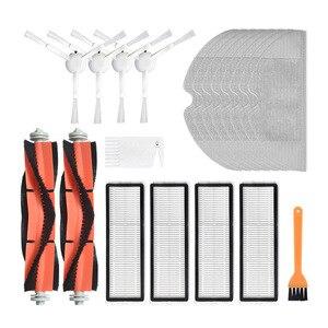 Nova escova principal filtro hepa escovas laterais mop pano para xiaomi mijia aspirador de pó 1c 1t stytj01zhm