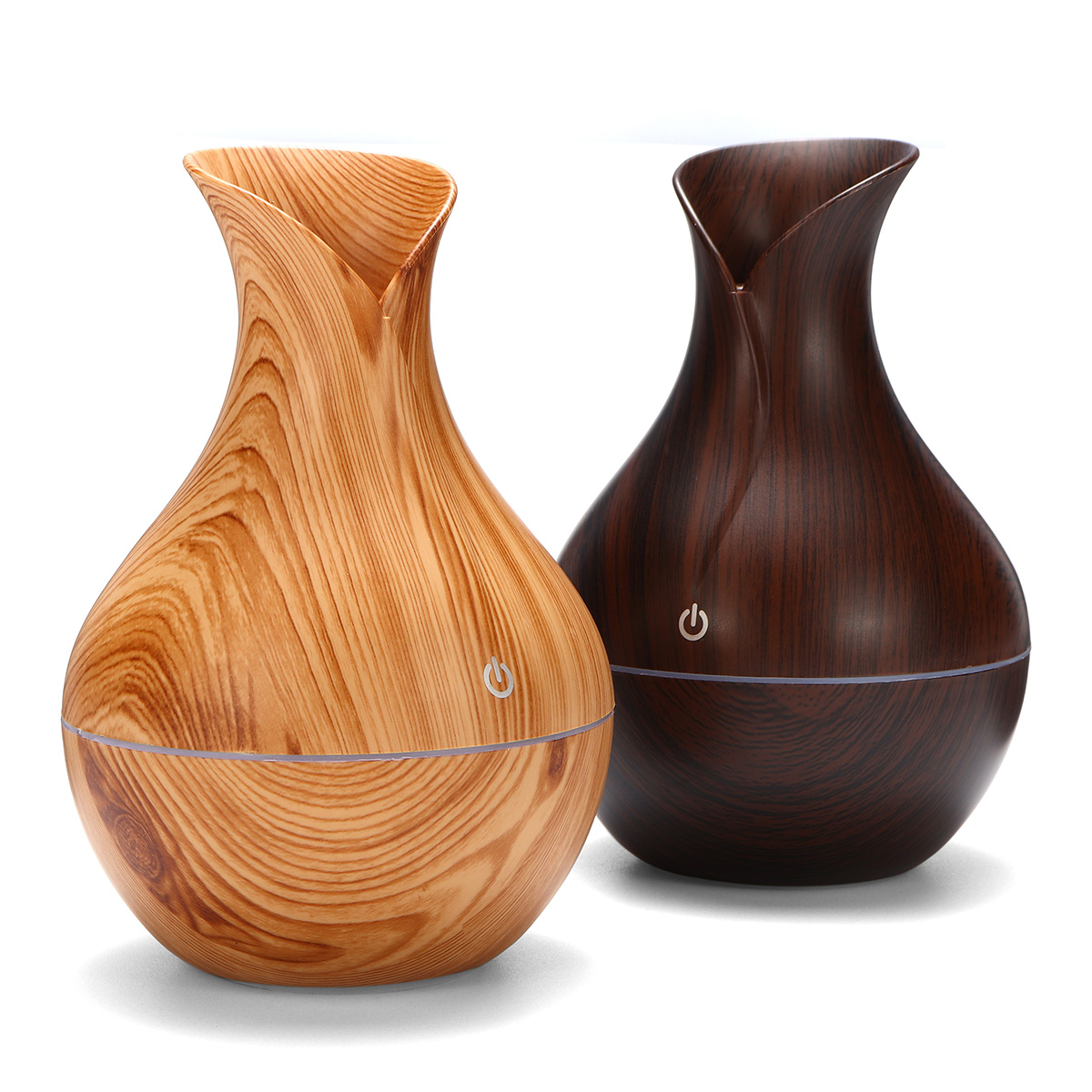 USB Electric Wood Grain Ultrasonic Cool Mist Humidifier Aroma Essential Oil Diffuser 7 Color LED Lights For Office Home