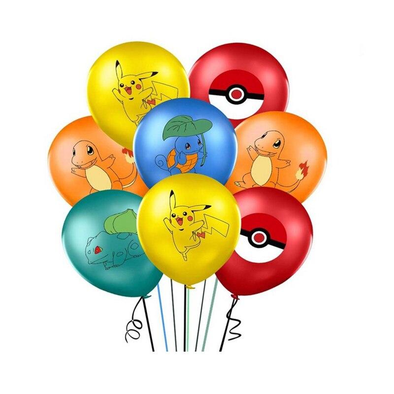 Горячие POKEMON игрушки на день рождения комплект Charmander Cleffa Пикачу Бульбазавр, Сквиртл, Psyduck шар Рисунок Вечерние номер Dcorations подарок для детей