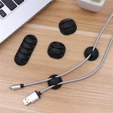 20pcs Desk Cable Clips Plastic Cord Organizer Self Adhesive Holders Wiring Fastener Wire Management For Home Office