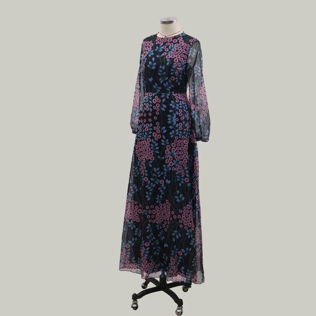 Zoctuo Sexy Backless Slim Print Dress Middle Waist O-Neck Long-Sleeved Dress Zipper Casual Wear 2020 Summer Dress Women 5