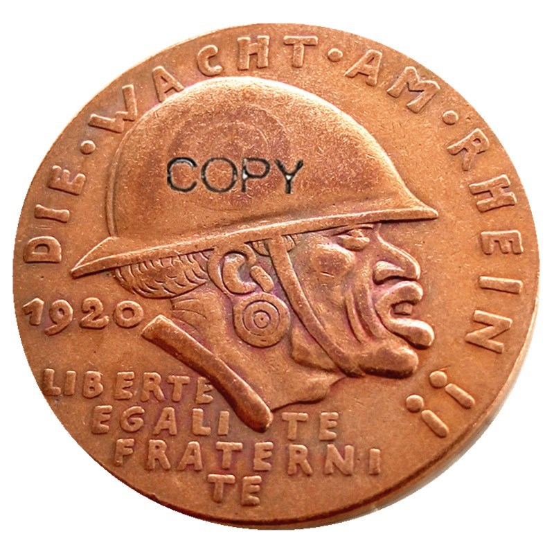 Alemanha 1920 moeda comemorativa a medalha da vergonha negra 100% cobre cópia rara moeda