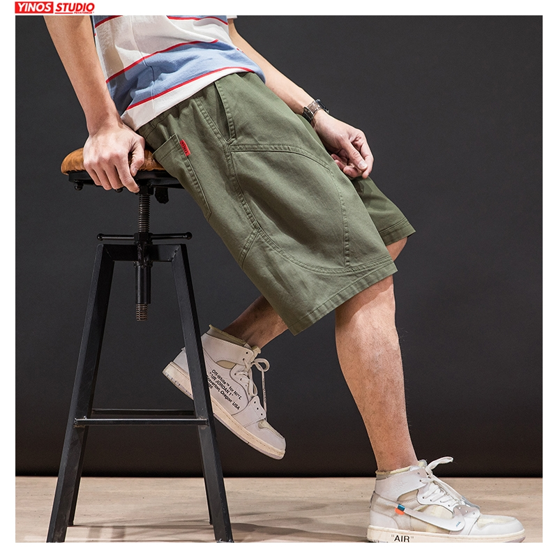 Dropshipping Men Summer Hip Hop Oversize Shorts Men 2020 Loose Knee Length Casual Pants Male Oversize Clothes Shorts Bottoms