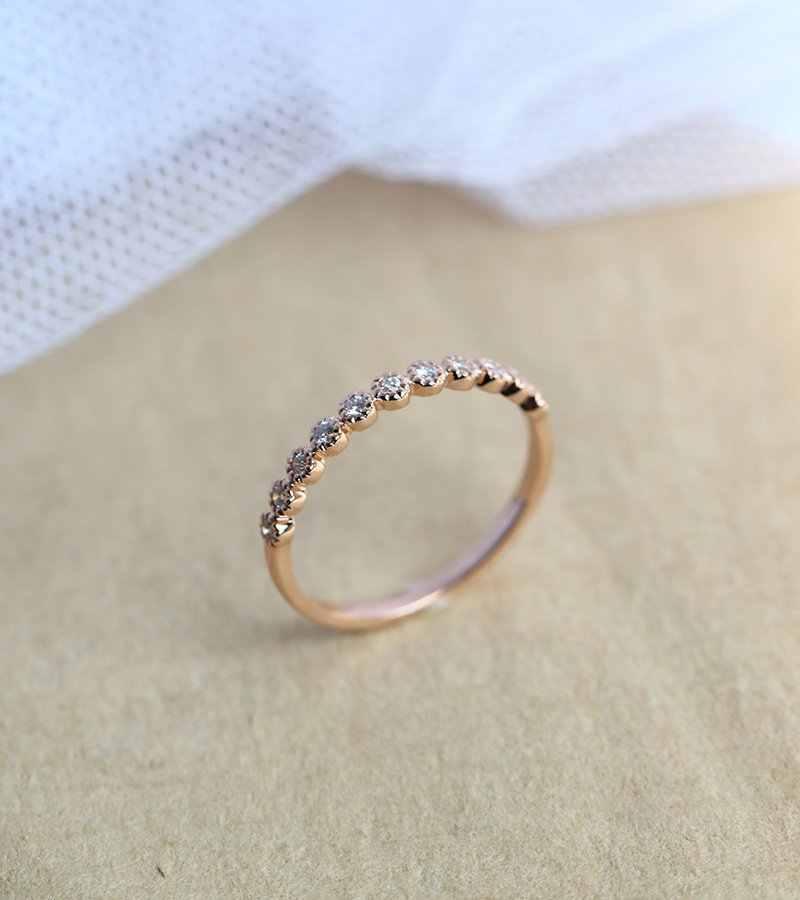 14K Rose Gold 2 Carat Fl Diamond Ring Voor Vrouwen Anillos Edelsteen Pure Natuurlijke Bizuteria 14K Rose Gold sieraden Ronde Diamanten Ring