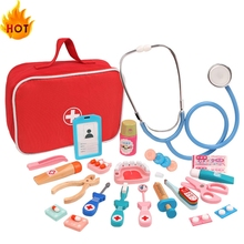 Toy Doctor-Toy Simulation Wooden Role-Playing Children for Hot Real-Life