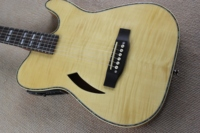 free shipping high gloss thin body silent electric acoustic guitar solid wood thin body silent special design guitar