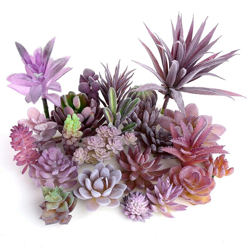 Fashion Potted Artificial Succulents Plastic Plant Fake Cactus Floral Garden Home Decor 1