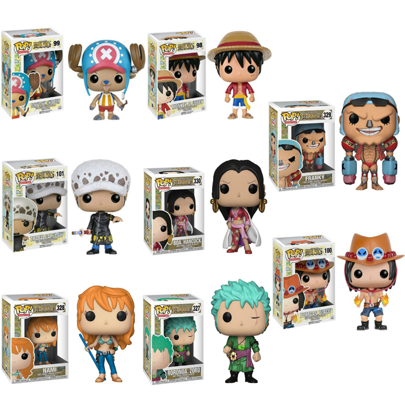 Funko Pop One Piece ZORO Monkey D. Luffy NAMI Ace Figure Anime Model Pvc Doll Collection Toys For Kids Christmas Gift