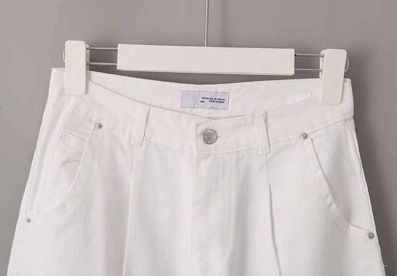 toppies 2020 White Jeans High Waist Denim Harem Pants Boyfriend jeans for Woman Loose Trousers vaqueros mujer