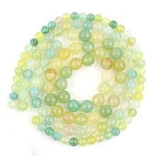 Natural Stone Beads 4/6/8/10/12mm Green Yellow Prehnita Jades Round Loose Beads For Jewelry Making DIY Bracelet Necklace 15inch wholesale faceted green chalcedony jades stone beads round loose spacer bead for jewelry making diy bracelet 15 4 6 8 10 12mm