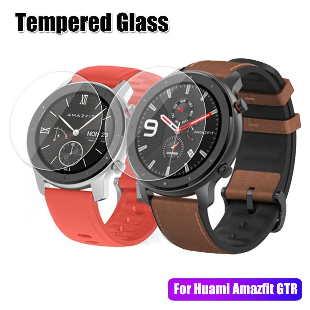 3/5/10pcs Tempered Glass film Screen Protector For Xiaomi Huami Amazfit GTR Smart Watch 47mm Clear Film For Amazfit GTR 20/22 MM