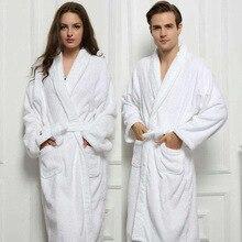 Ночной халат-Пижама с глубоким v-образным вырезом размера плюс, сплошной бант, хлопок, толстая шаль, лацканы с длинным рукавом, женские халаты, костюмы