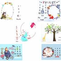 Manta de hito mensual para bebé, accesorios de fondo de foto para recién nacido, manta de pañales reutilizable para bebé, para fotografía