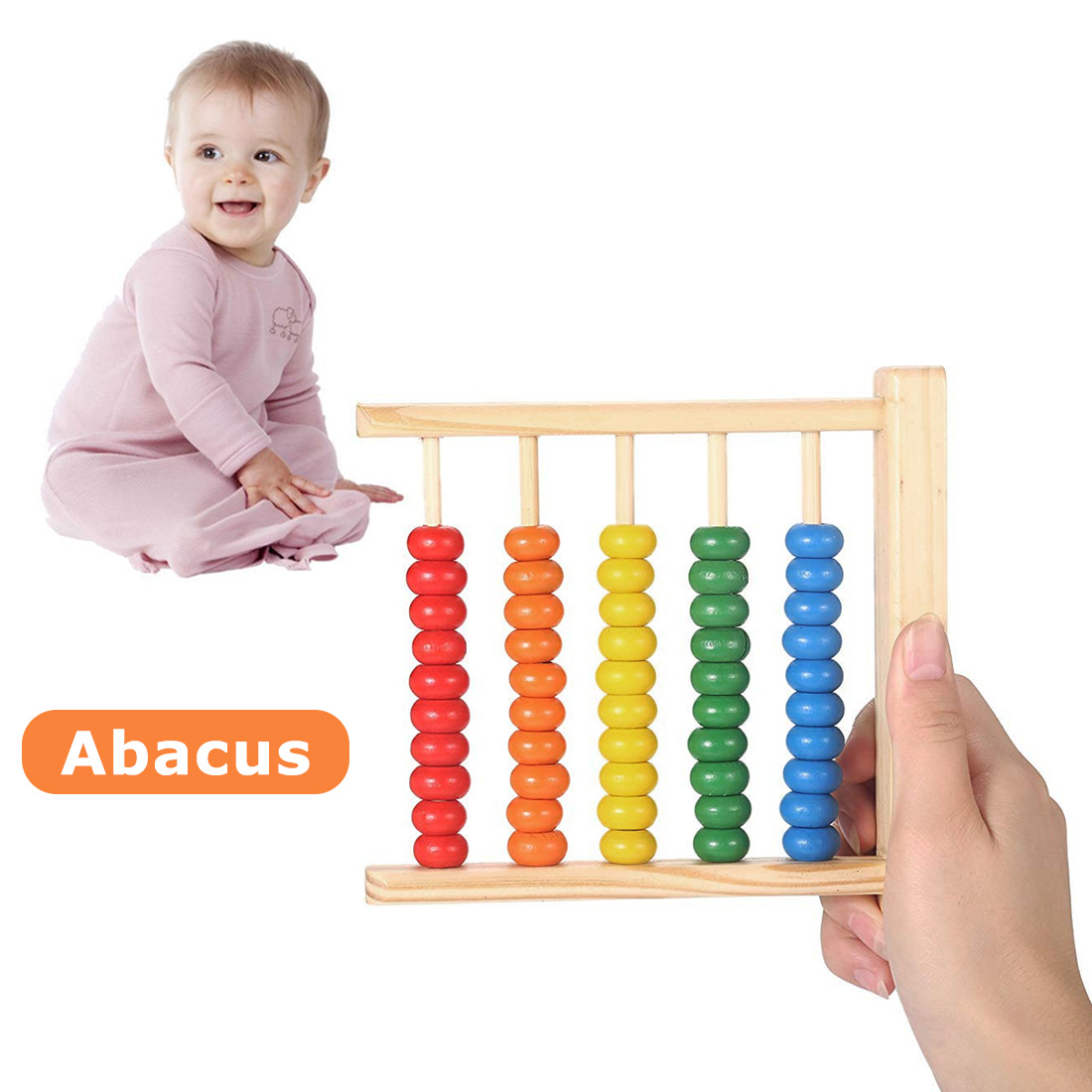 Baby Wood Abacus Toy Learning Educational Kids Math Toy Children Early Math Learning Educational Toy