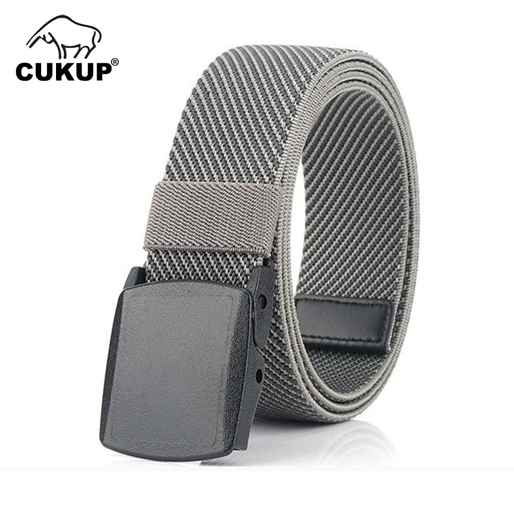 CUKUP Quality Design Leisure Elastic Belt Jeans Accessories Hard Plastic Buckle Casual Styles Belts Many Colour Optional CBCK193
