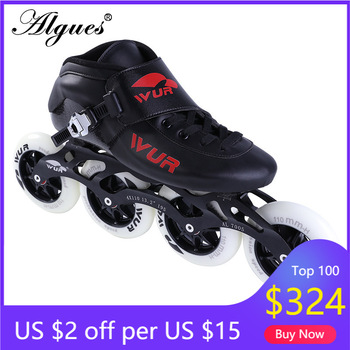 Carbon Fiber Speed Skating Shoes High Pu Roller Skates Racing Children's Girl Men's Women's Adult Professional Flat Shoes Skates цена 2017