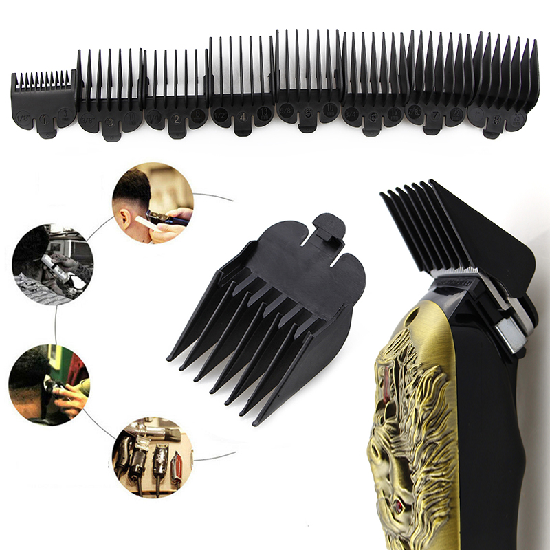 Tonis 8 PC Black Universal Hair Clipper Limit Comb Attachment Size Barber Replacement 5/10/15/20/25/30/35/40MM TSLM1