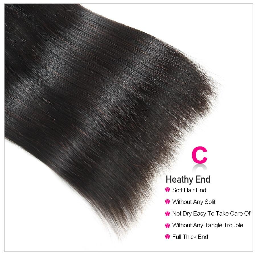Hfca52119d1e647fbb299526e0b47b851w Beautiful Princess Peruvian Straight Hair 3 Bundles With Closure Double Weft Remy Human Hair Bundles With Lace Closure