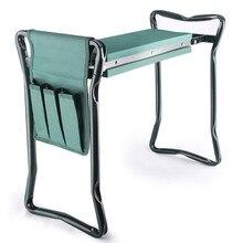 Garden Kneeler and Seat Folding Stainless Steel Stool with Tool Bag EVA Kneeling Pad Gifts Gardening Stool